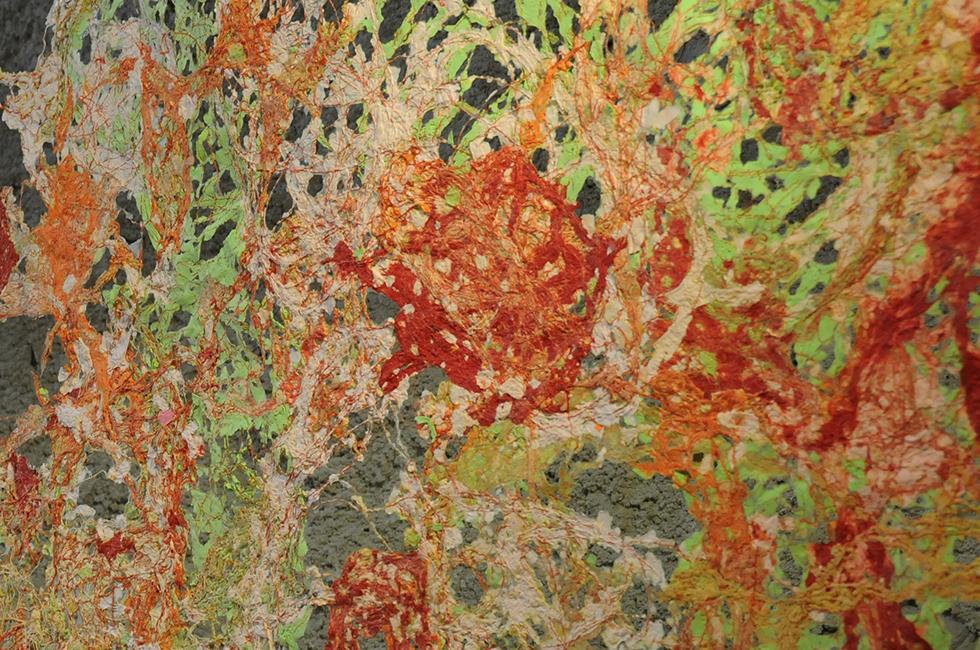 Rauminstallation Detail Rosengarten